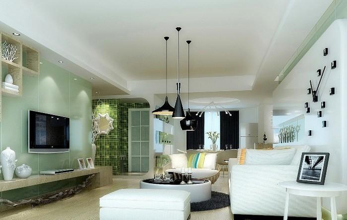 田园风格-110平米二居室-装修样板间