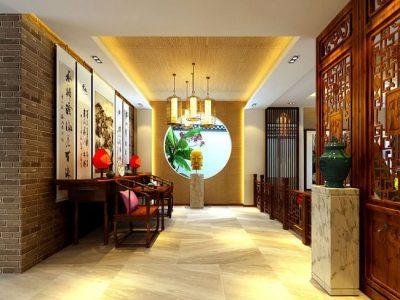 中式古典-191平米四居室装修样板间