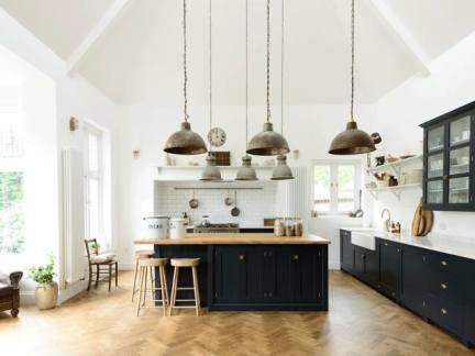 清爽大气厨房工业风格灯具装修效果图