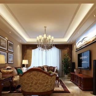 中式风格五居室装修效果图