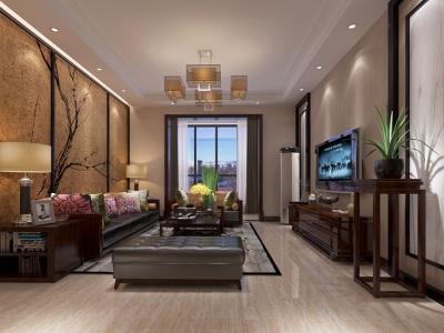 中式风格-178平米三居室装修样板间