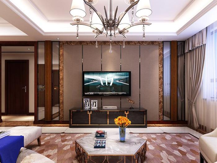 现代简约-130平米二居室-装修样板间