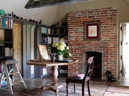 怀旧朴素美式风格书房书桌装修图片