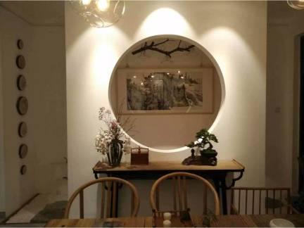 中式风格二居室玄关隔断装修图片