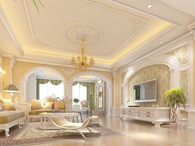 美式风格-315平米四居室装修样板间