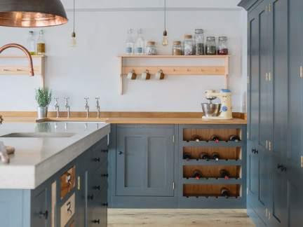 清新欧式风格开放式优雅厨房效果图