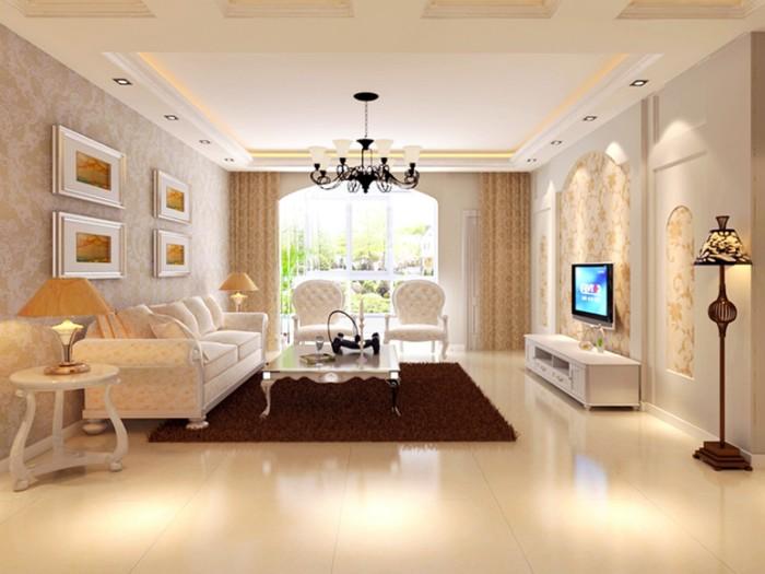 欧式风-101平米三居室-装修设计