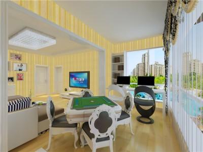 现代简约-129平米三居室装修样板间