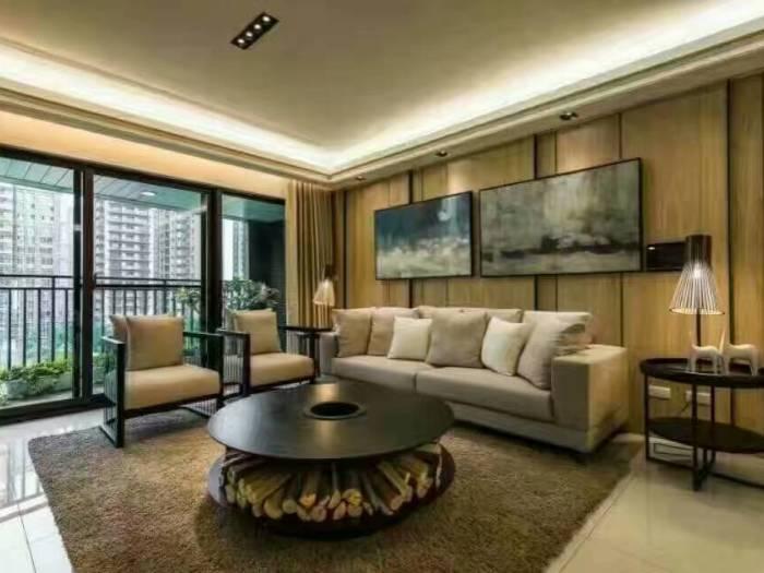 现代简约-129平米三居室-装修样板间