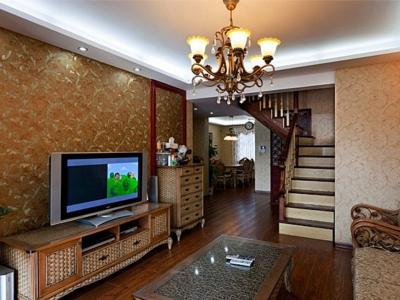 东南亚风格-140平米四居室装修样板间