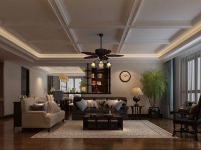 欧美风情-230平米六居室装修样板间