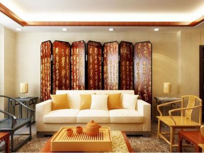 中式风格-1平米三居室装修样板间