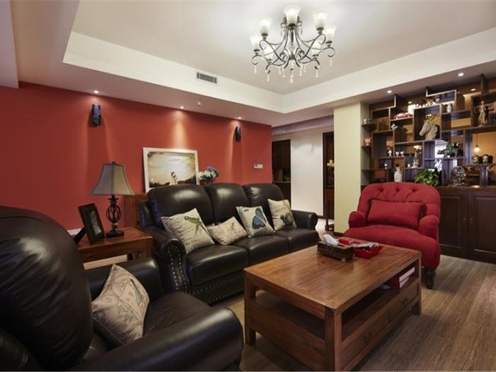 混搭风格-123平米四居室-装修样板间