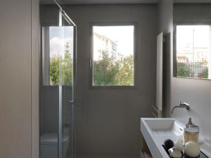 简约风格干净清爽卫生间洗手台设计图