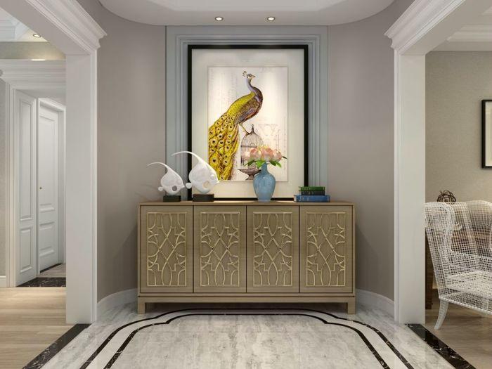 欧美风情-157平米三居室-装修样板间