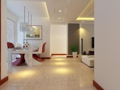 现代简约-120平米一居室装修样板间