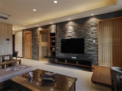 日韩风格-87平米三居室装修样板间