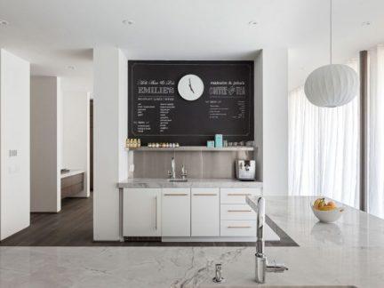 文艺北欧风格厨房温馨黑板墙设计图