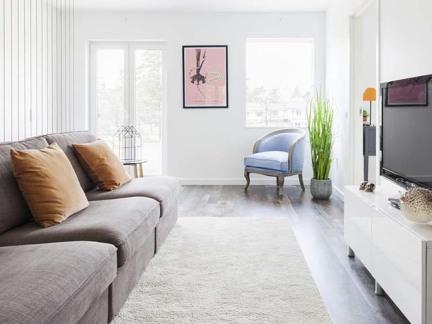 气质简约灰色现代风格客厅装修设计