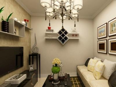 现代简约-60平米二居室装修样板间