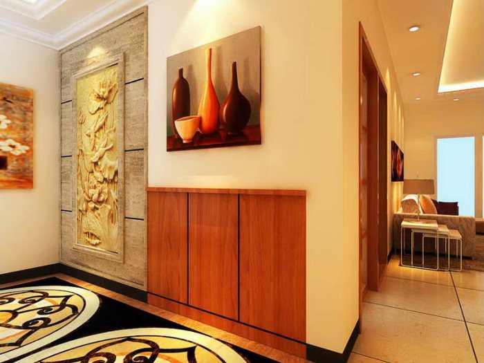 现代简约-113.28平米三居室-装修样板间