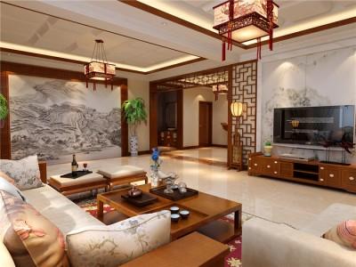 新中式-350平米别墅装修样板间
