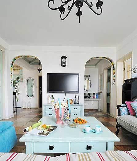 地中海风格-75.49平米二居室-装修样板间