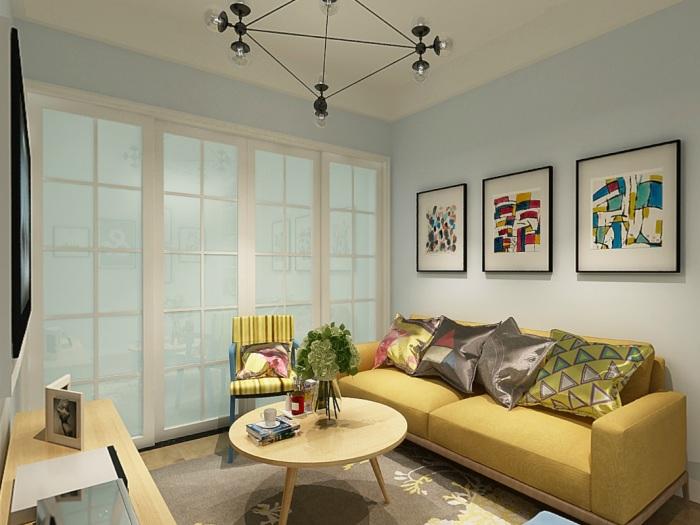现代简约-50平米二居室-装修样板间