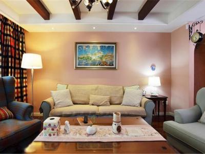 地中海风格-128平米三居室装修样板间
