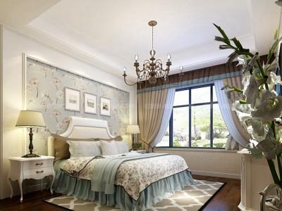 欧美风情-130平米三居室装修样板间