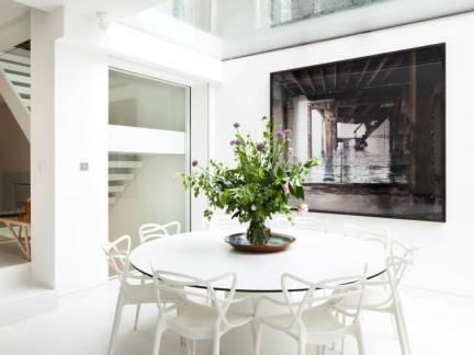 简约风格时尚跃层优雅白色餐厅效果图
