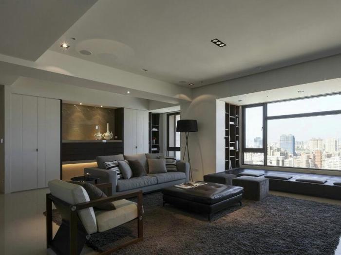 现代风格-130平米三居室-装修设计