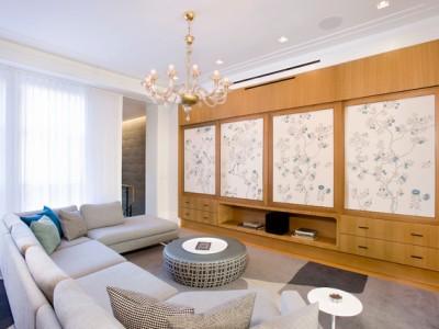 日韩风格-106平米三居室装修样板间