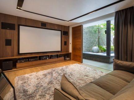 温润舒适现代风格客厅实用背景墙设计图