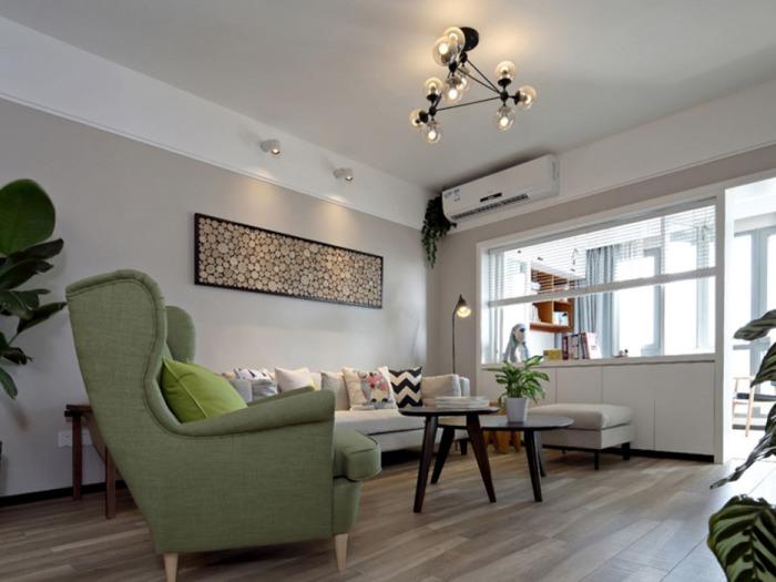 欧美风情-123平米三居室-装修样板间