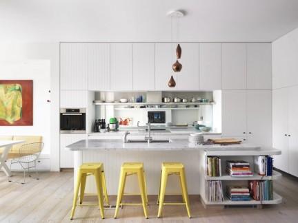 时尚轻快简约风格开放式厨房效果图