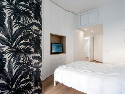 简约风格时尚卧室雅致壁纸装修效果图