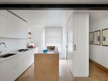 简约风格明亮大气白色厨房装修图片