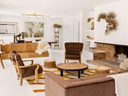 大气自在美式风格客厅茶几装修图片