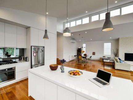 简约风格时尚大气白色厨房装修图片
