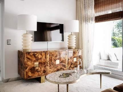 轻奢现代风格客厅优雅茶几图片欣赏