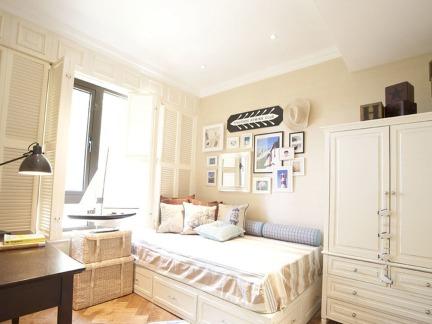 淡雅白色系地中海风格主题儿童房设计效果图