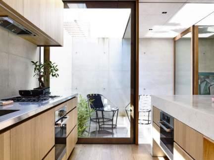实用简洁现代风格原木色厨房效果图