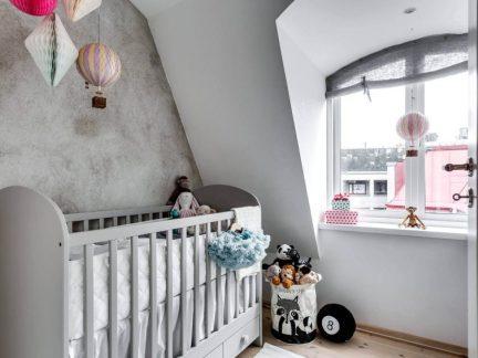北欧风格舒适灰色可爱儿童房装修图片