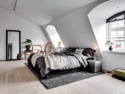 清新温暖北欧风格卧室装修实景图