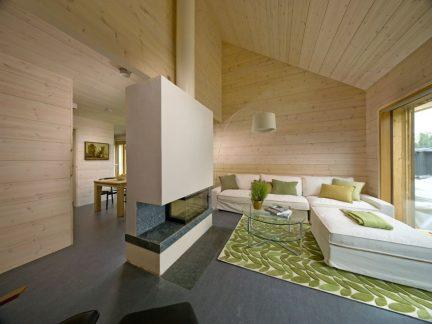 温润自然简约风格原木色客厅实景图