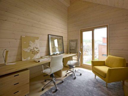 温馨简约风格舒适原木色书房装修图片