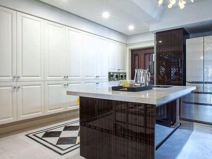 轻奢现代风格创意厨房吧台设计