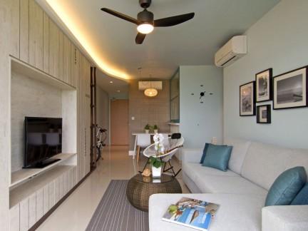 明亮气质混搭风格客厅装修设计
