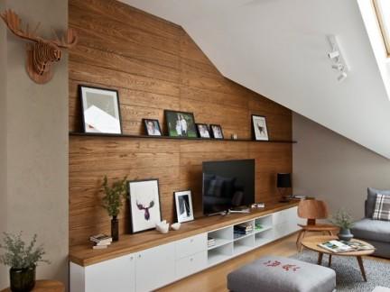 文雅温暖北欧风格客厅装修实景图